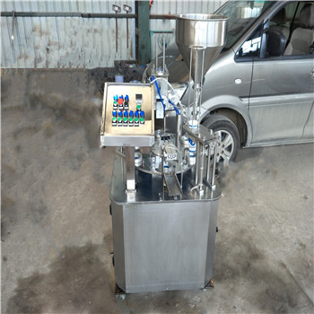 圆盘式酸奶灌装封口机 吕工机械自动化圆盘式封杯机厂家