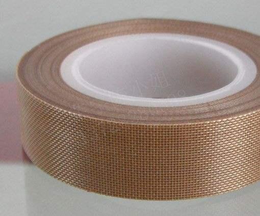 特氟龙高温胶带进口铁氟龙耐高温胶布封口机制袋机绝缘耐磨0.18厚