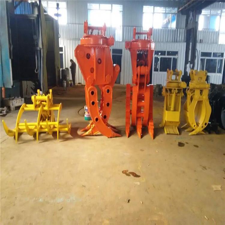 挖机配件液压式抓木器 挖掘机液压旋转式抓木器 抓木器现货