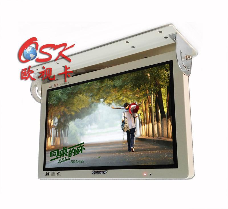 欧视卡18.5寸车载广告机QZ-1852W 一托一功能 同步显示画面
