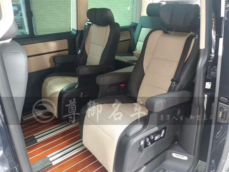 深圳尊御名车大众迈特威改装定制电动航空座椅加圆桌