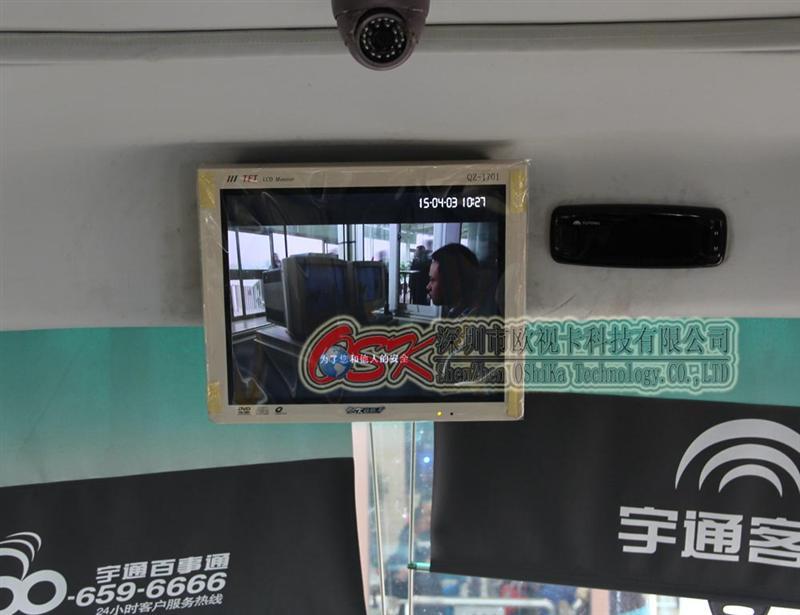 欧视卡15寸壁挂式显示器AV VGA HDMI输入 中巴视频广告机SD卡U盘