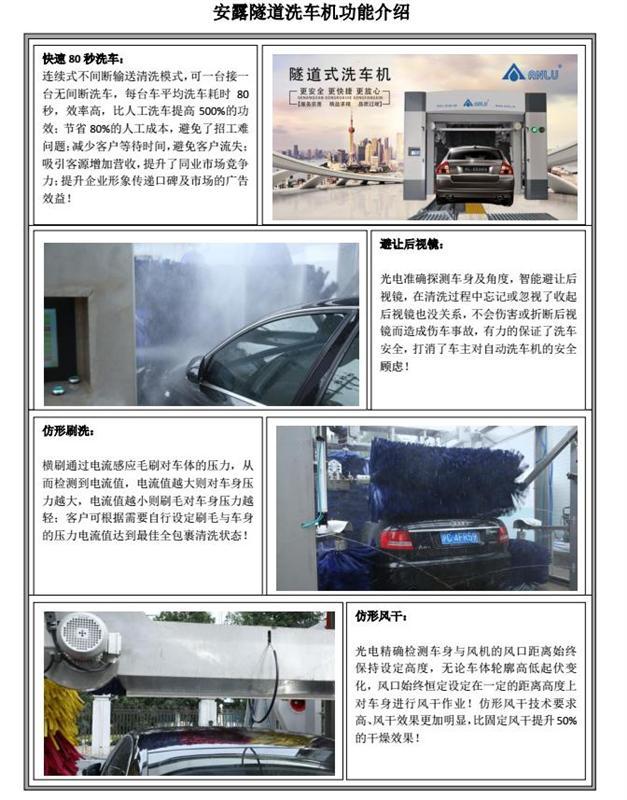 隧道式全自动洗车机加盟代理