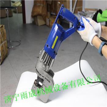 手提式液压冲孔机 电动角铁钻孔机视频 钢板打眼机