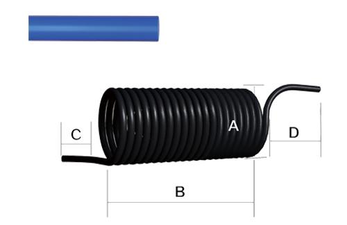 工厂设备/气动管/PU螺旋管