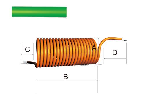 山东鲁盾直销PA螺旋管(轻便,柔韧,耐久)