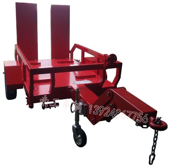 0.5吨带爬梯消防车专用平板拖车