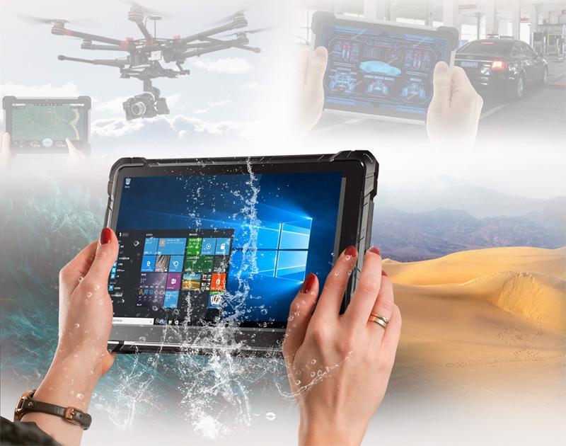 前海高乐intel户外安防加固三防平板电脑 支持4G上网