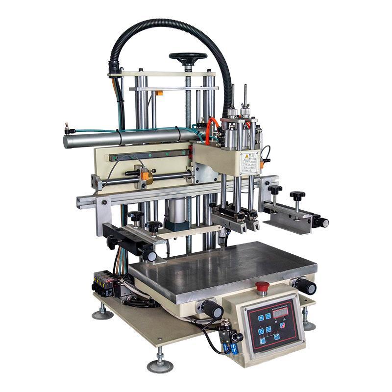 清远市眼镜盒丝印机铁盒丝网印刷机包装盒网印机